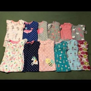 2t footed cotton pjs